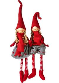 Figure decorative 'Rudi & Merle' (set 2 pezzi)