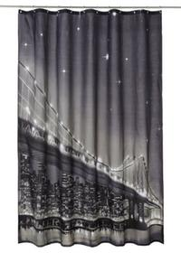 Tenda per doccia con LED 'Brooklyn Bridge'