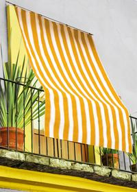 Tenda da sole rigata
