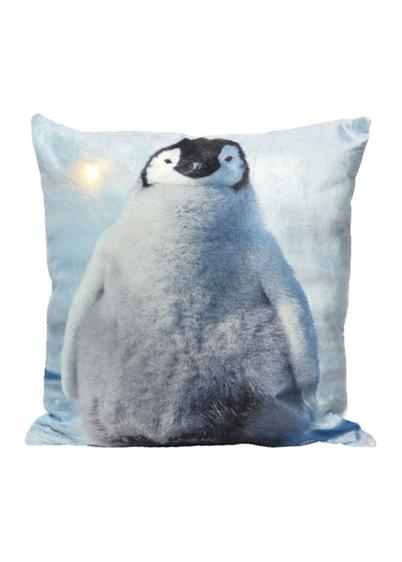 Cuscino a LED con pinguino